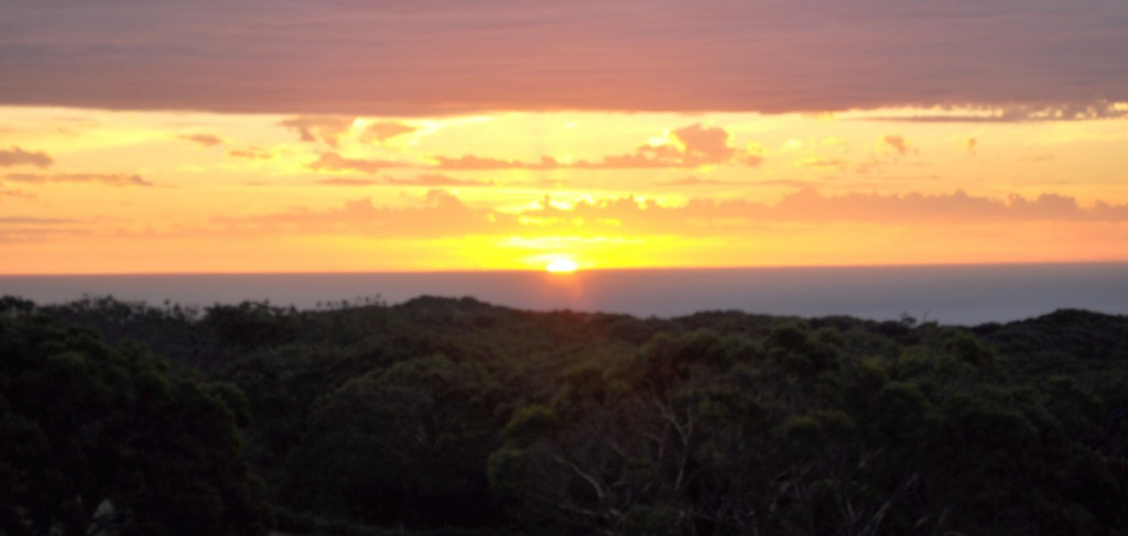 2/9/10-The sunset from a hill at Bimbi Park, where my tour slept the first night. Photo by Bobbi Lee Hitchon